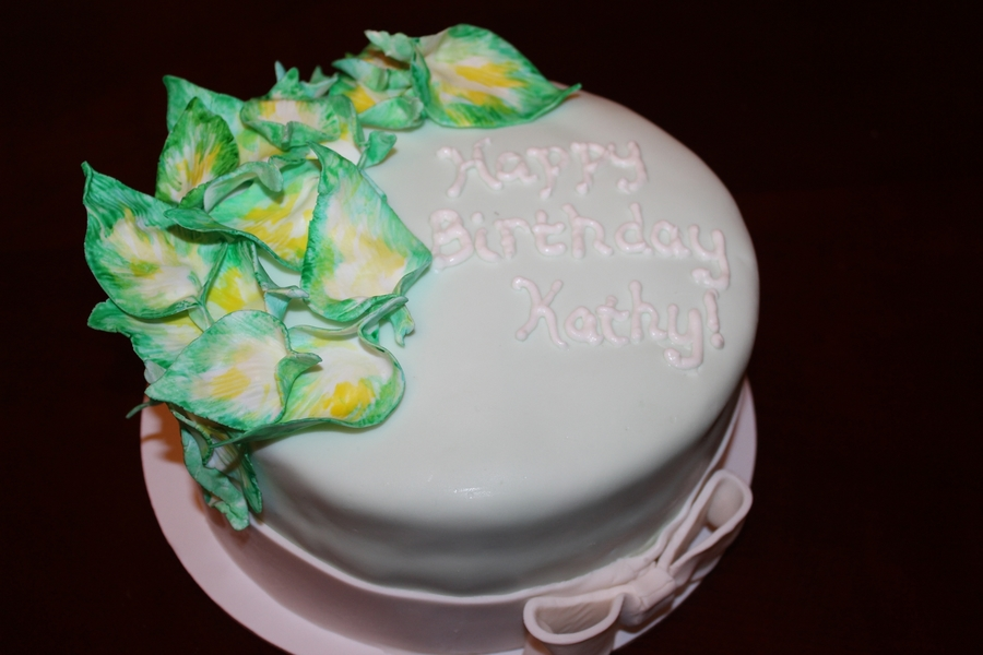 Birthday Cake With Hosta Plant Accents on Cake Central