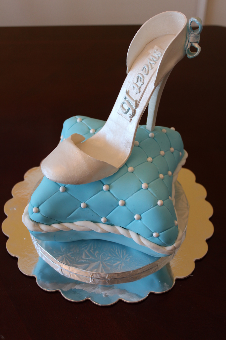 Cinderella Shoe Birthday Cake