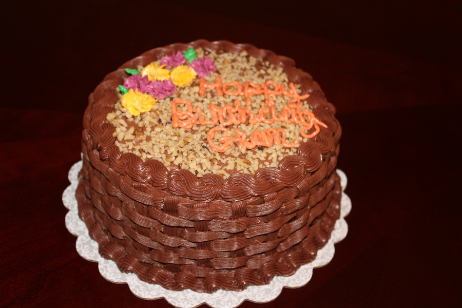 Chocolate Basketweave Birthday Cake on Cake Central