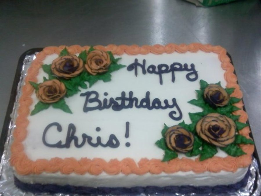 Orange And Purple Flowers on Cake Central
