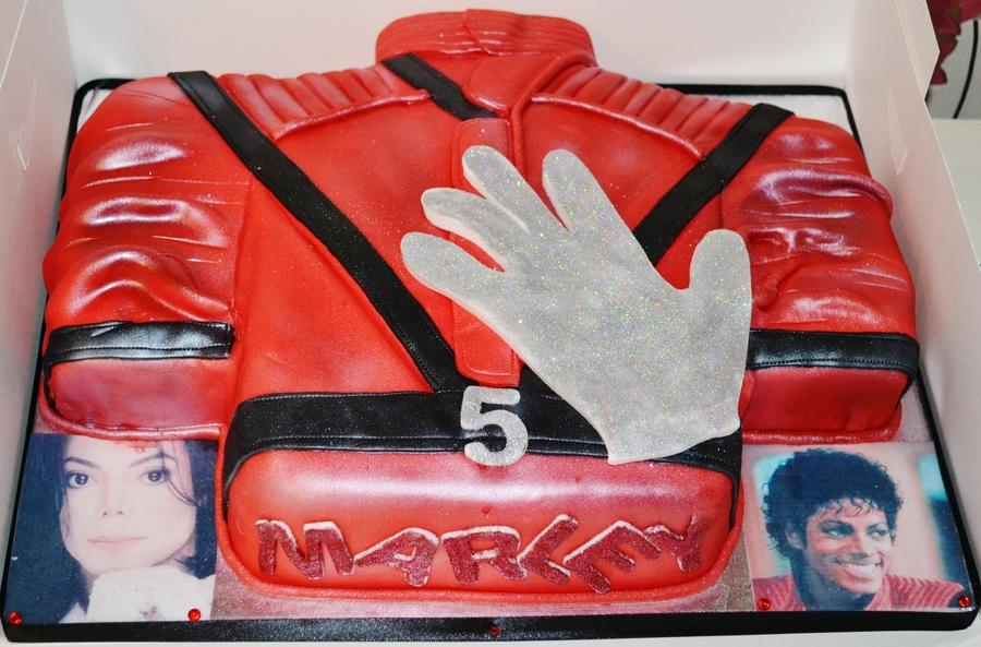 Michael Jackson Thriller Jacket And Glove Cake