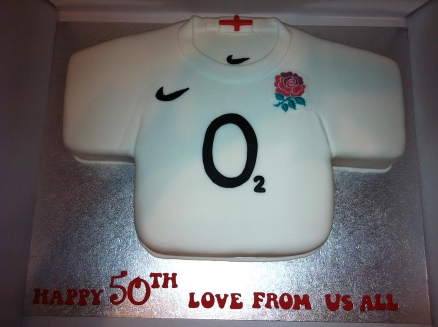England Rugby Shirt on Cake Central