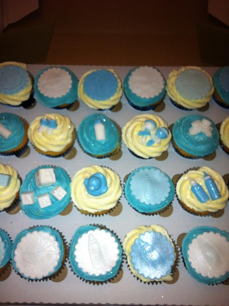 Baby Shower Cuppies Boy on Cake Central