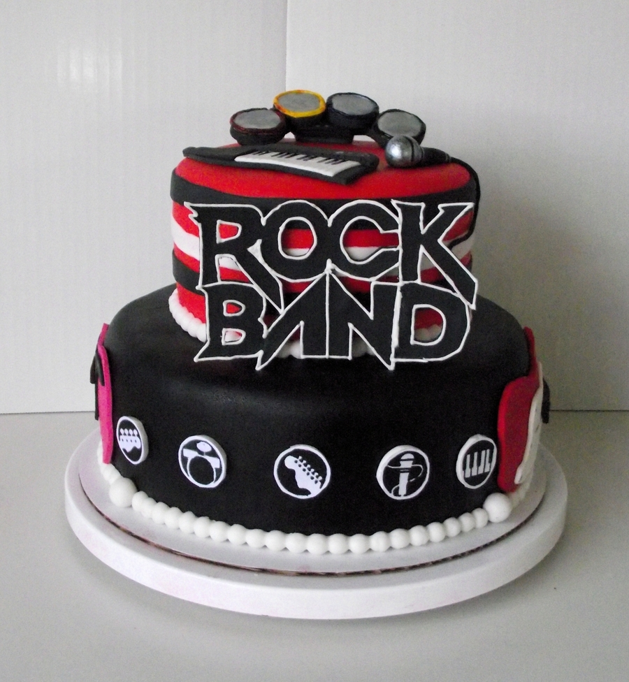 Rock Band Cake on Cake Central