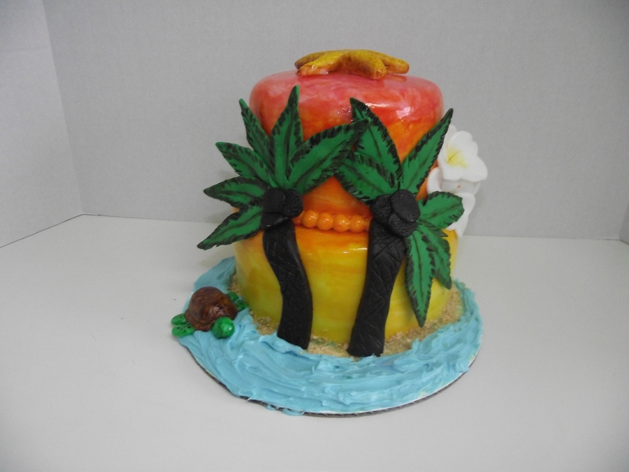 Tropical Sunset on Cake Central