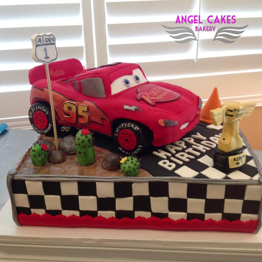 Lightning Mcqueen Cars Cake CakeCentralcom
