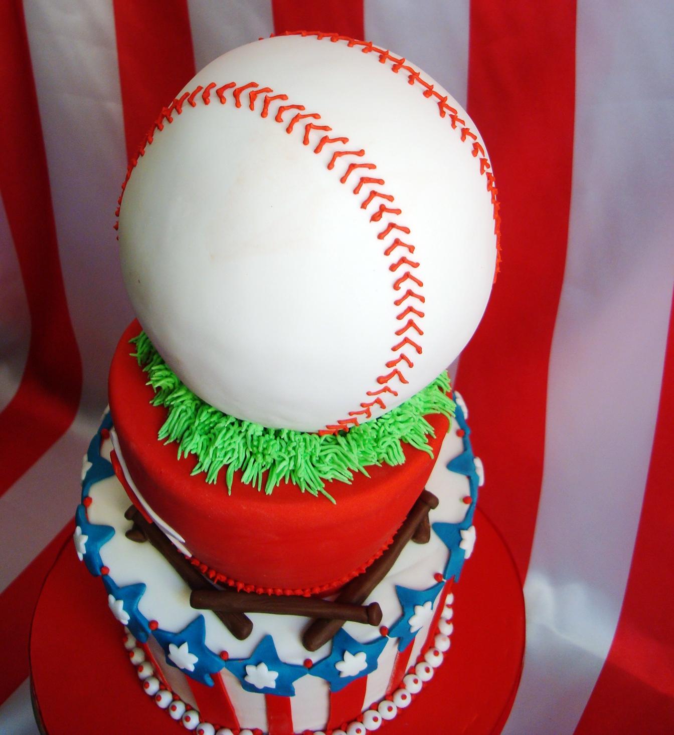 Baseball First Birthday Cake CakeCentralcom