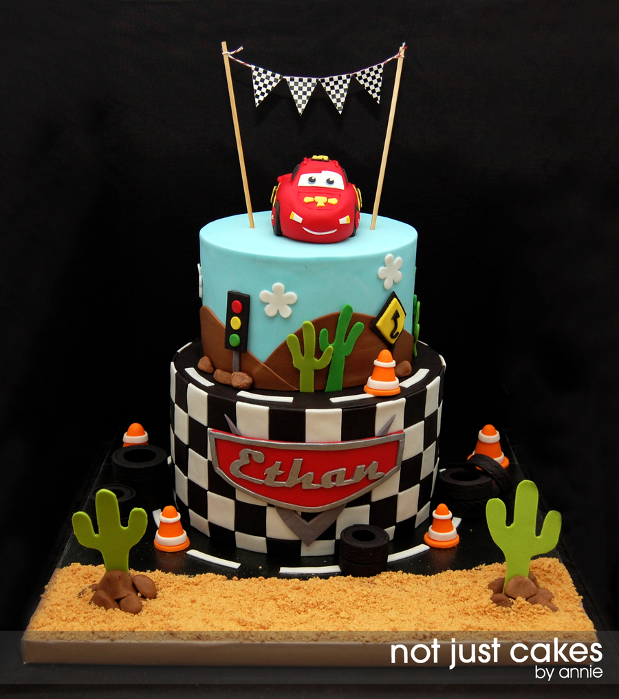 Cars Themed Cake For Ethan - CakeCentral.com