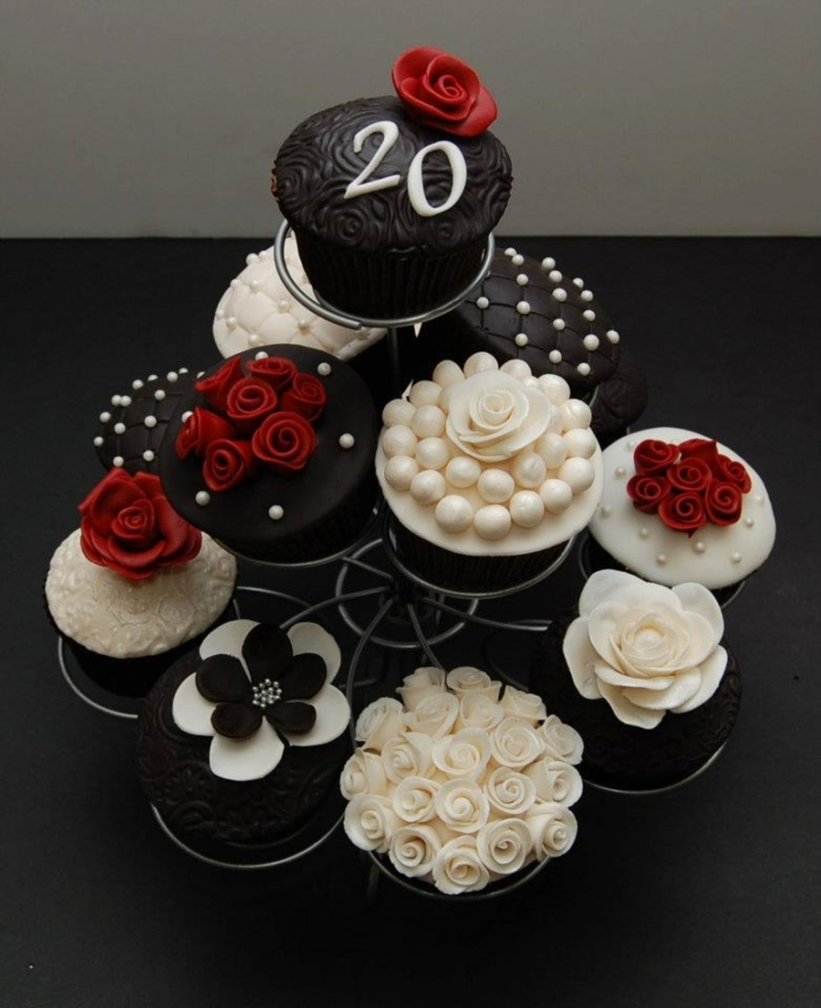 20th wedding anniversary cupcakes. Black Bedroom Furniture Sets. Home Design Ideas