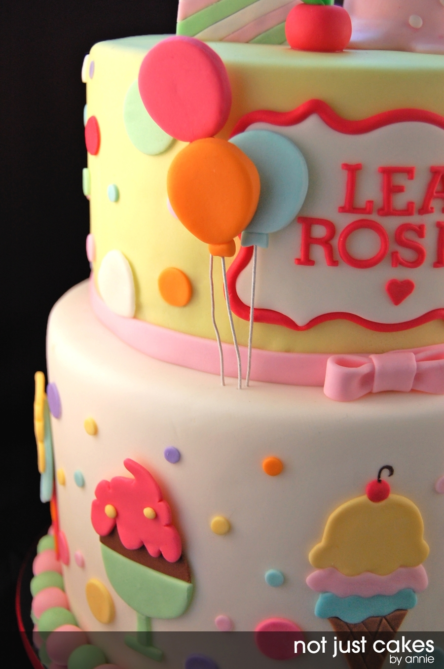 Ice Cream And Balloon Cake - CakeCentral.com