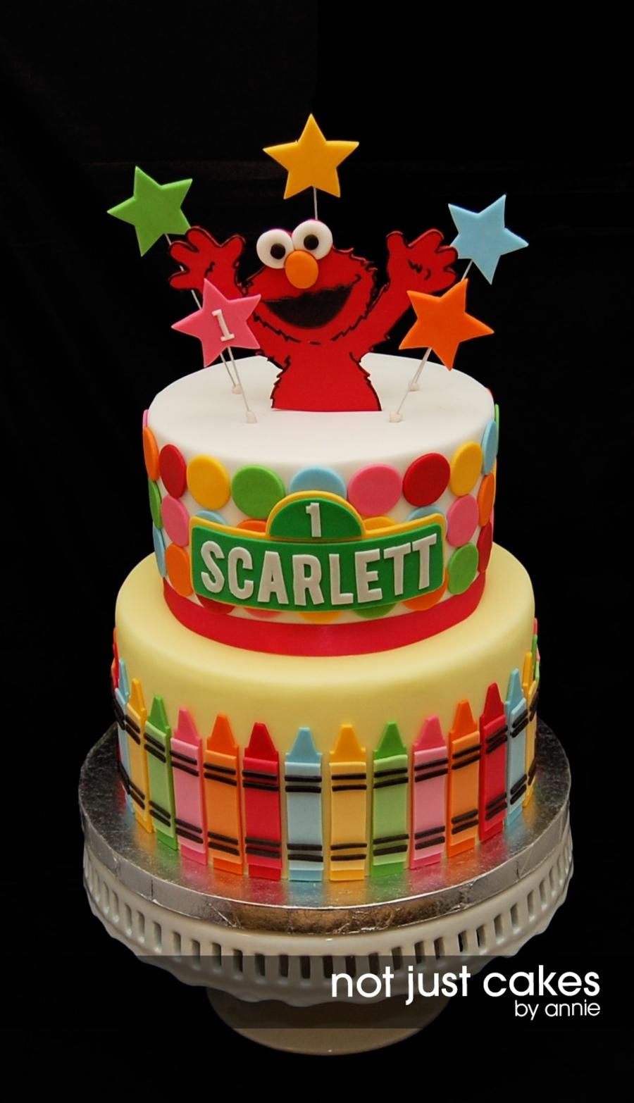 Elmo First Birthday Cake Cakecentral Com