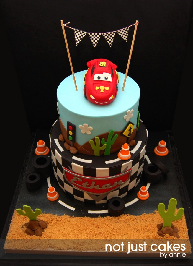 Cars Themed Cake For Ethan Cakecentral Com