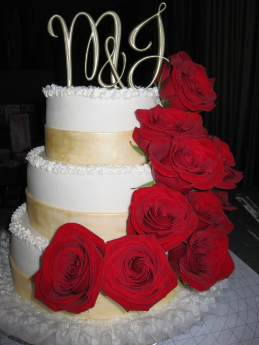 Beauty And The Beast Wedding Cake CakeCentralcom
