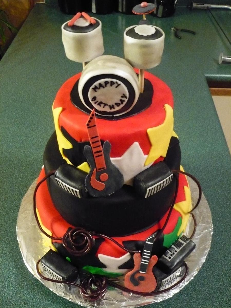 Rockstar Birthday Cake Cakecentral