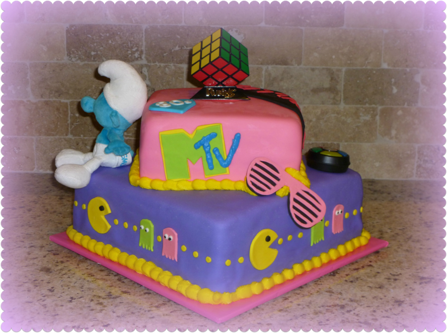 80S Themed Birthday Cake On Central