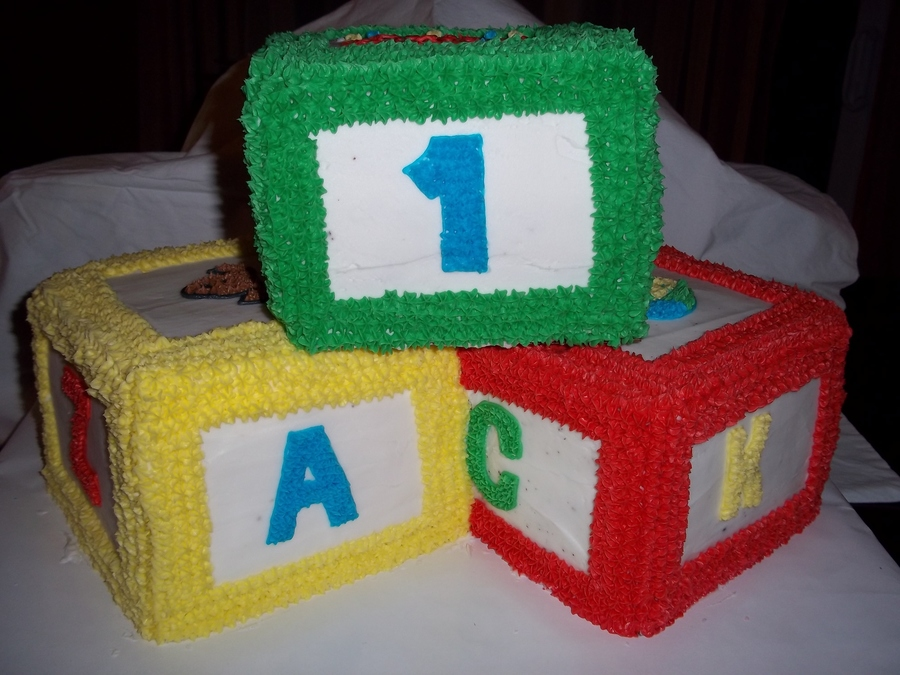 1St Birthday Building Blocks on Cake Central