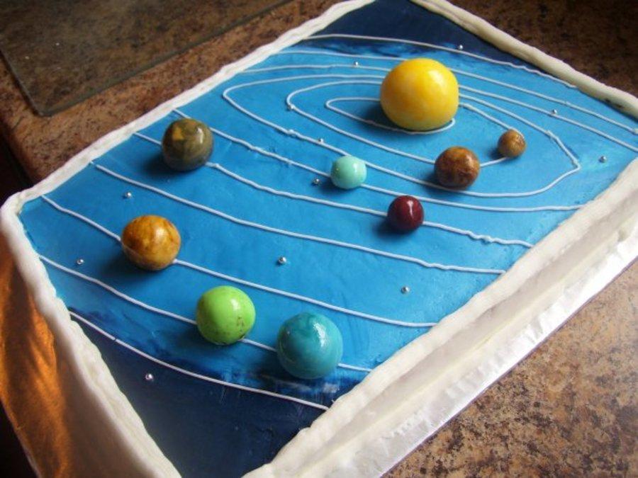 Solar System Cake - CakeCentral.com