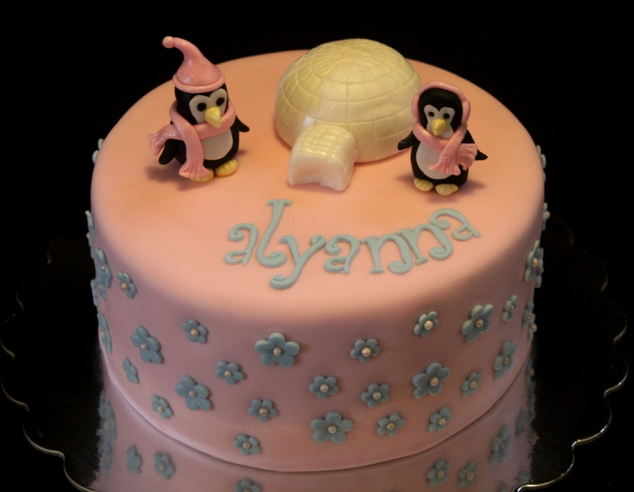 Penguin Winter Wonderland on Cake Central