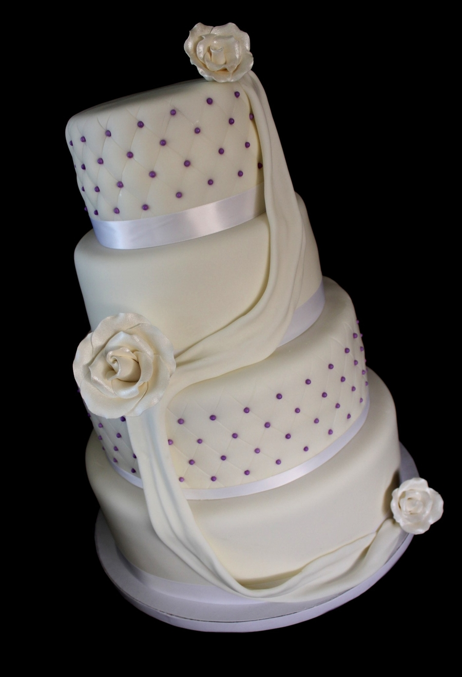 Diamond Quilted Wedding Cake - CakeCentral.com : quilted wedding cake - Adamdwight.com