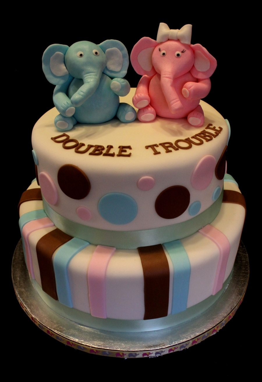 Elephant Babyshower Cake on Cake Central