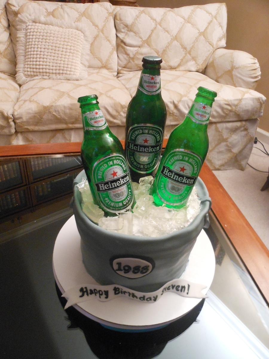 Cake Decorating Beer Bottle