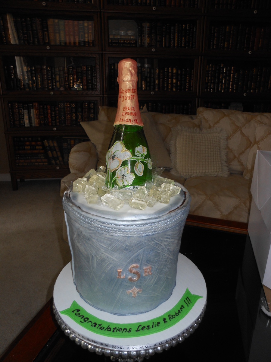 Perrier Jouet Champagne Bottle on Cake Central