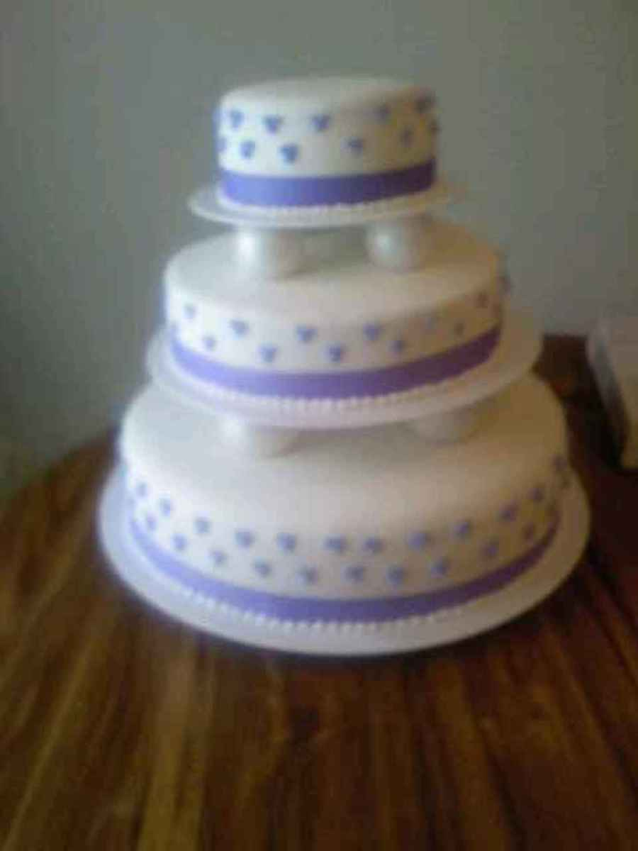 Purple Dot Wedding Cake on Cake Central
