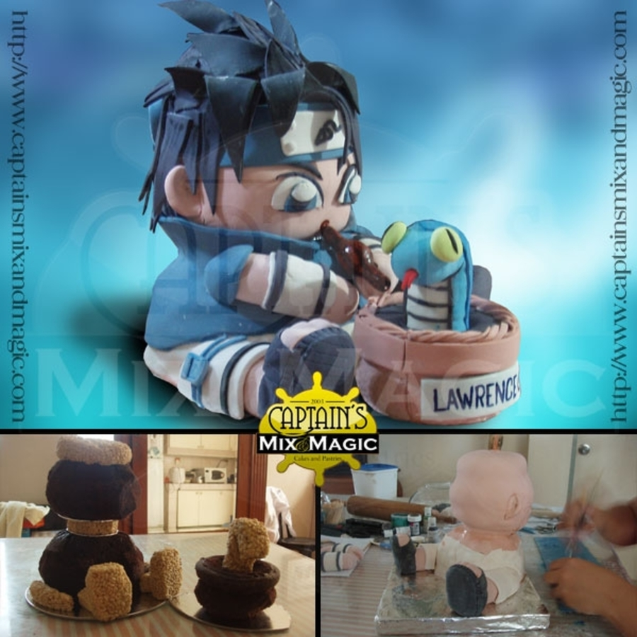 Chibi Sasuke on Cake Central