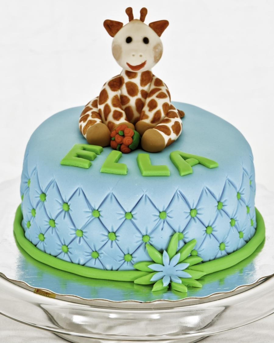 Sophie The Giraffe Birthday Cake Cakecentral Com