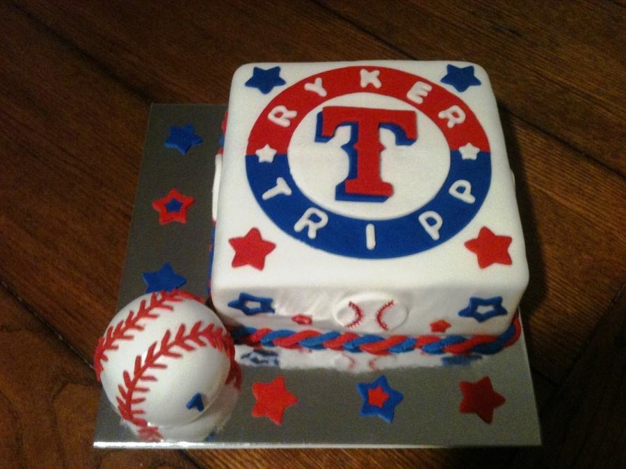 Fantastic Texas Rangers 1St Birthday Cakecentral Com Personalised Birthday Cards Veneteletsinfo
