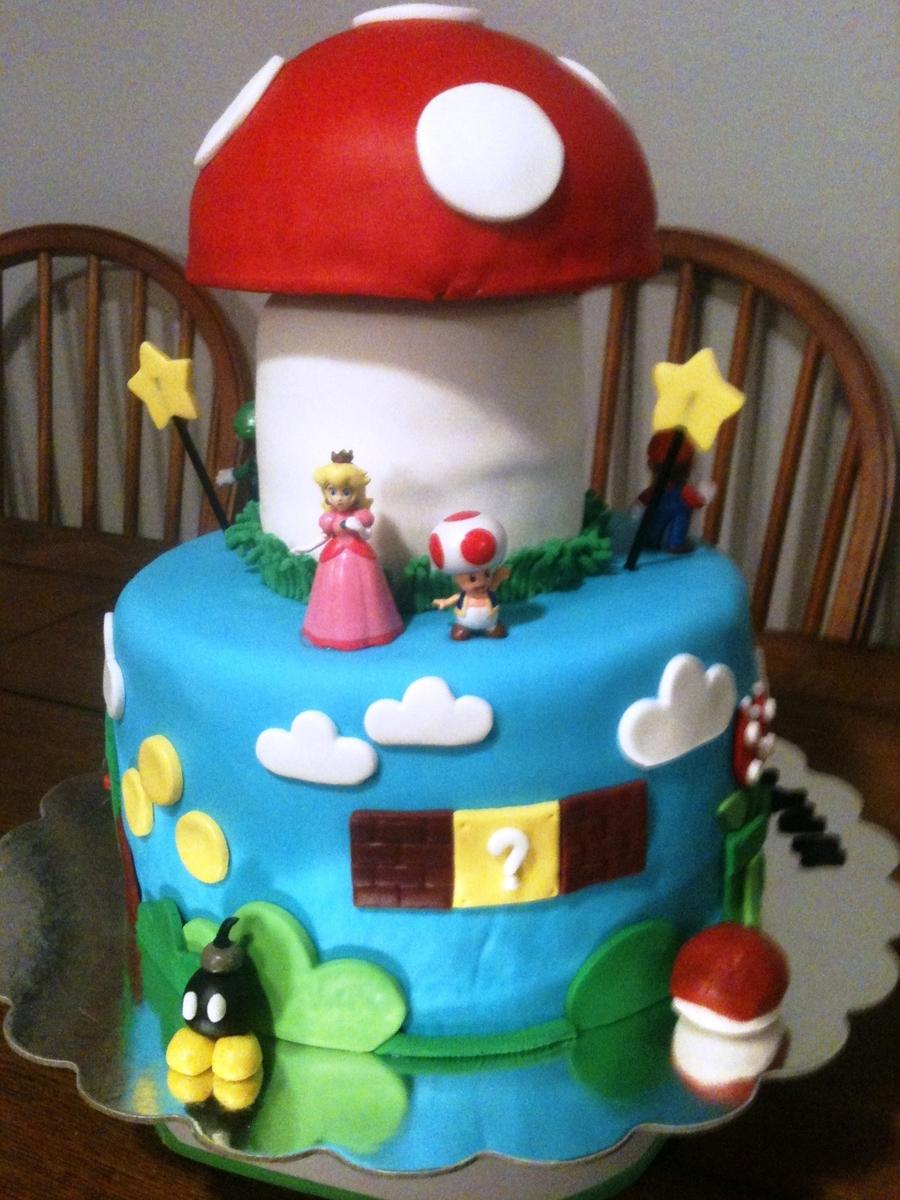 Mario Bros Birthday Cake