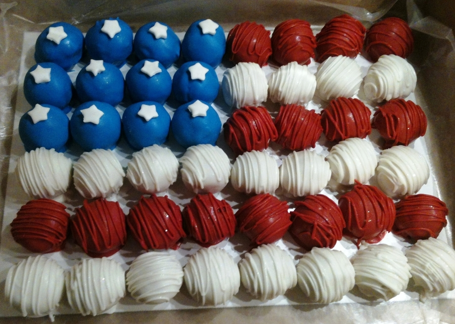 Patriotic Cakeballs on Cake Central
