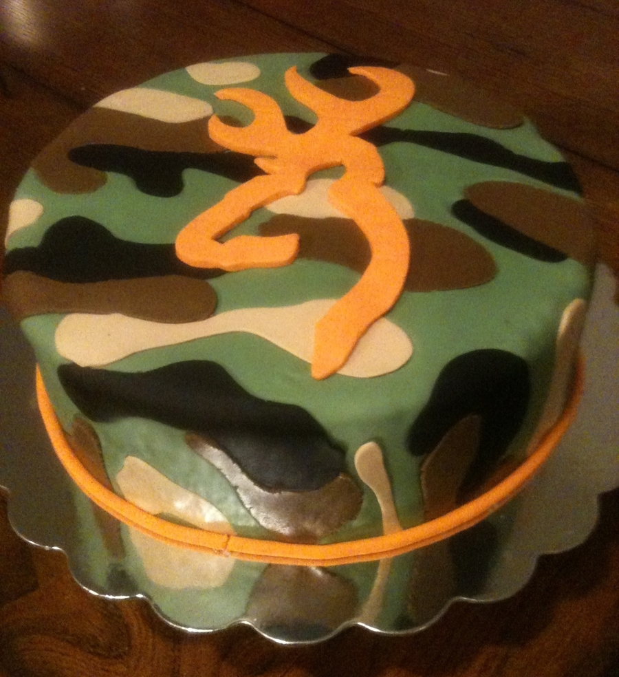 Camo Browning Cake on Cake Central