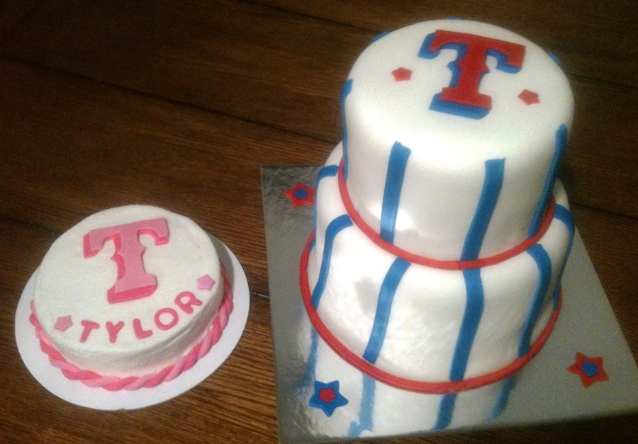 Texas Rangers Cake And Smash Cake  on Cake Central