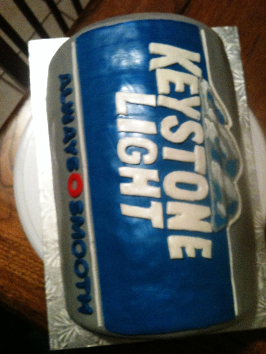 Keystone Beer Can Cake on Cake Central