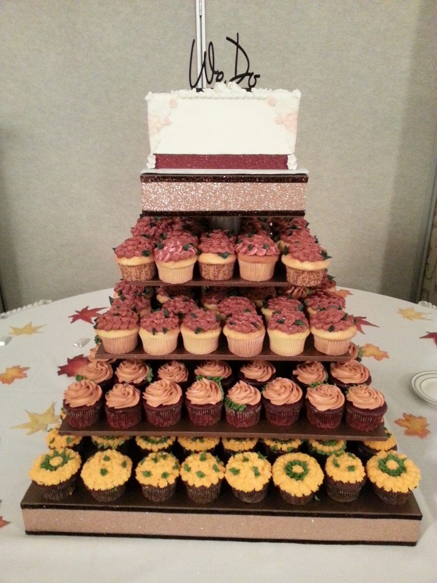 Wedding Cake With Cupcakes on Cake Central