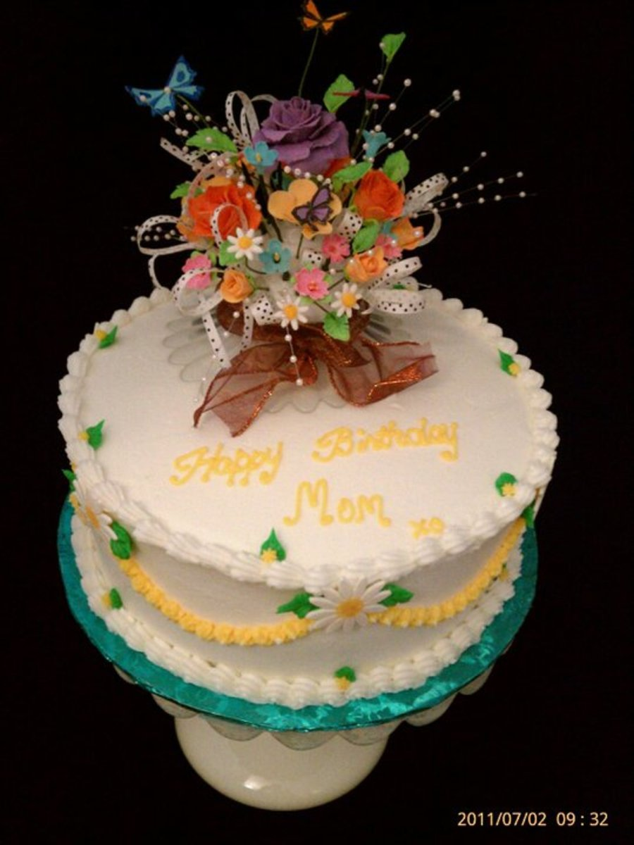 Flower Bouqet Birthday Cake Cakecentral
