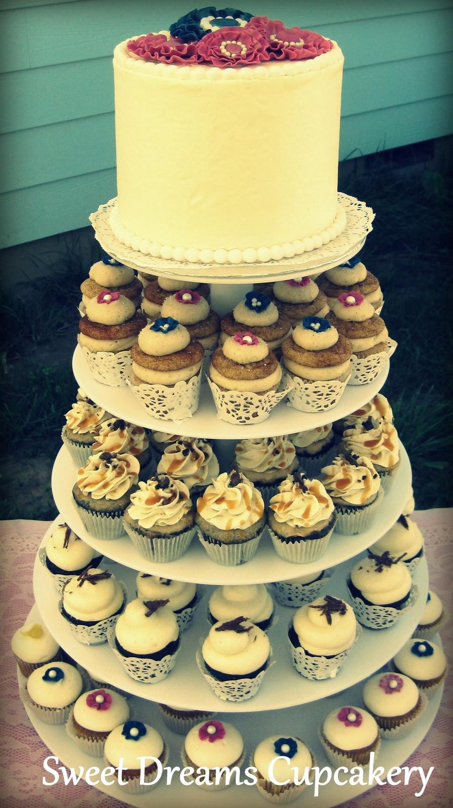 Wedding Cupcake Tower - CakeCentral.com