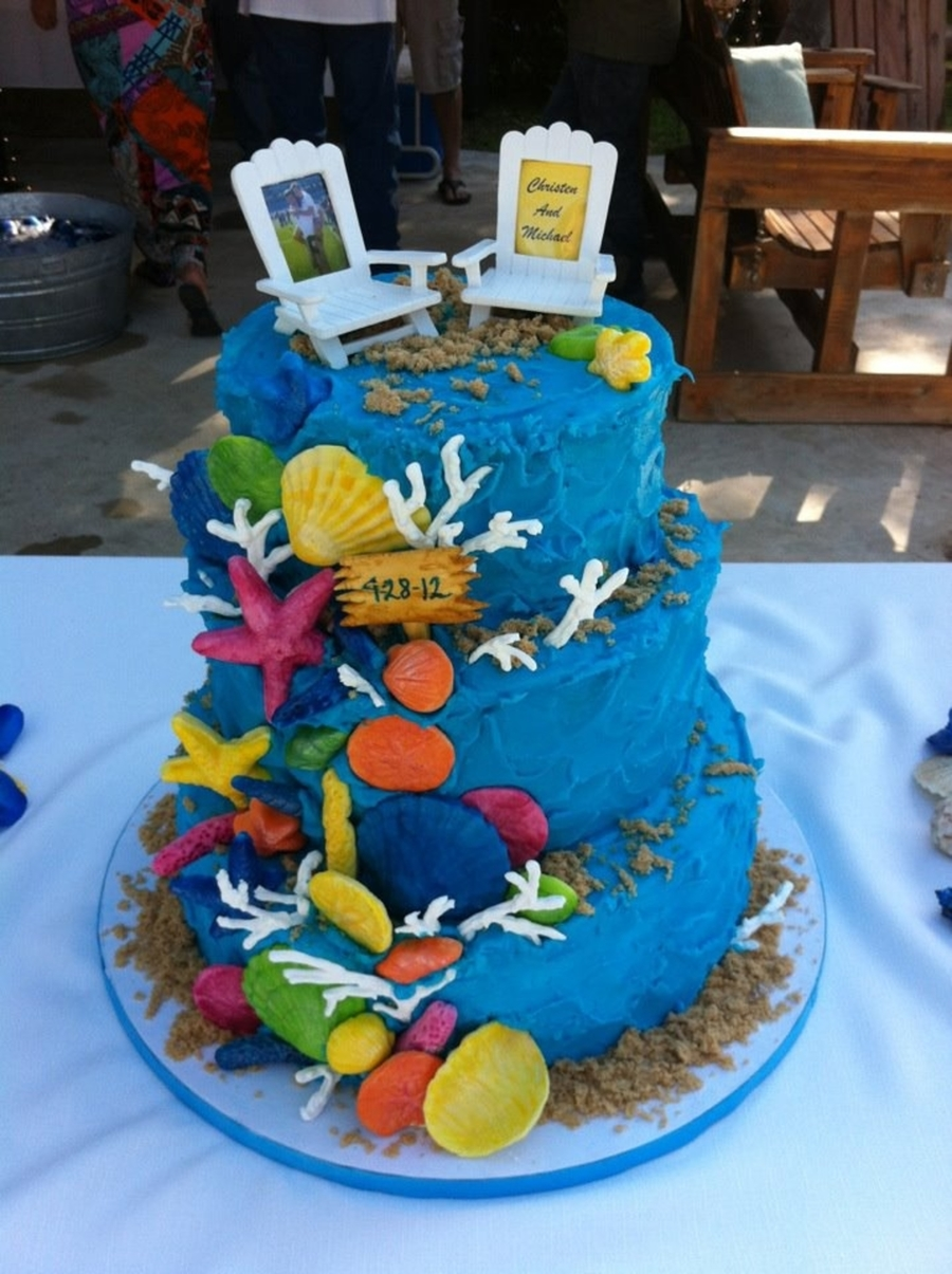 Sea Shower Cake  on Cake Central