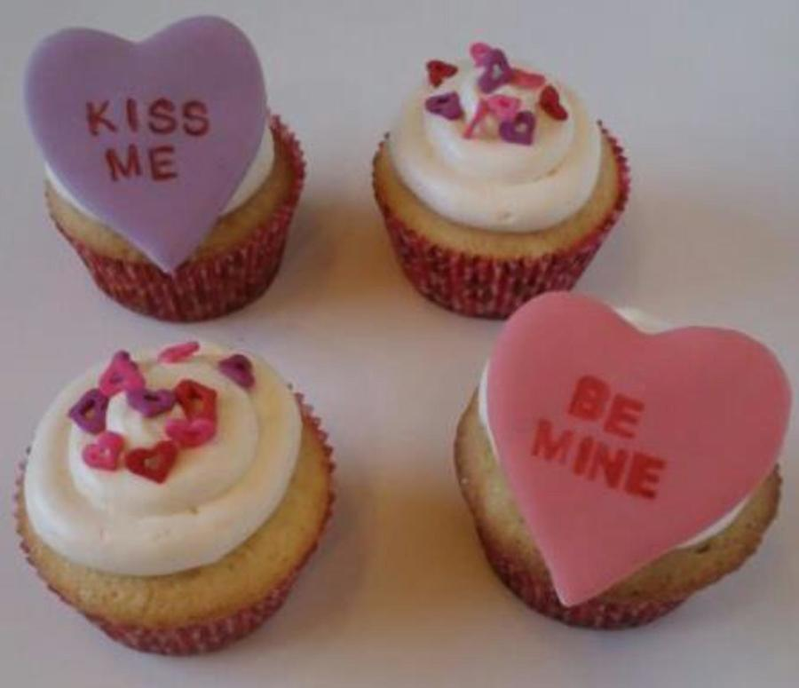 Conversation Heart Cupcakes  on Cake Central