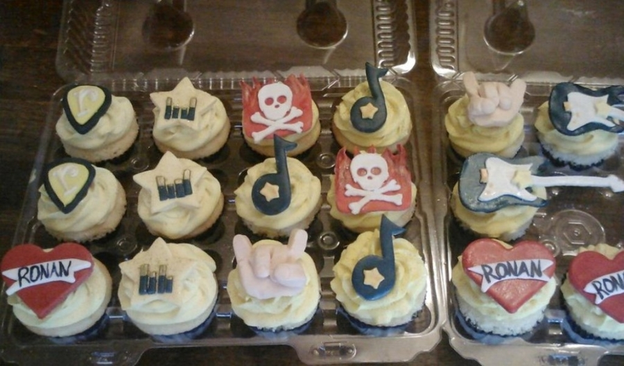 Rocker Baby Shower Cupcakes on Cake Central