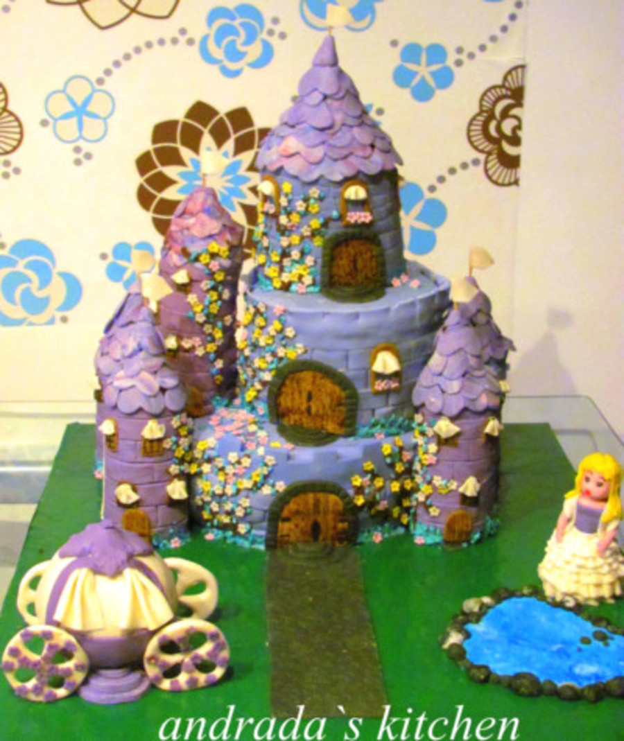 purple castle cake - cakecentral