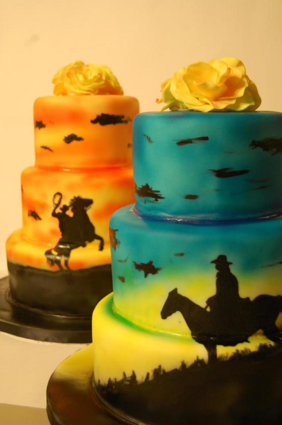 Phenomenal Western Themed Cakes Cakecentral Com Funny Birthday Cards Online Alyptdamsfinfo
