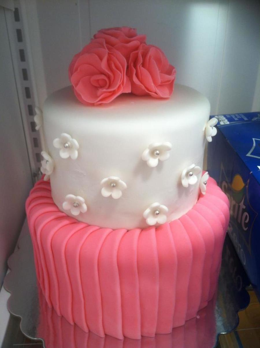 Pink Baby Shower Cake on Cake Central