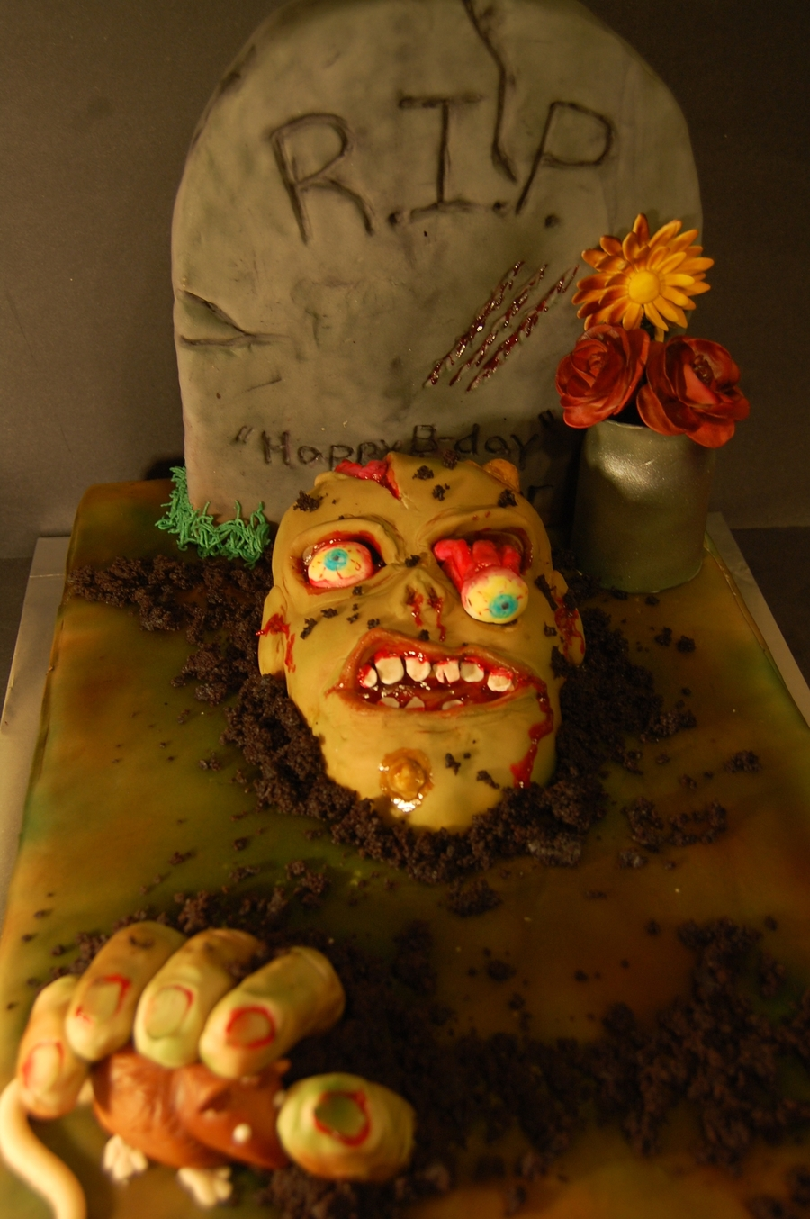 Zombie Birthday Cake on Cake Central
