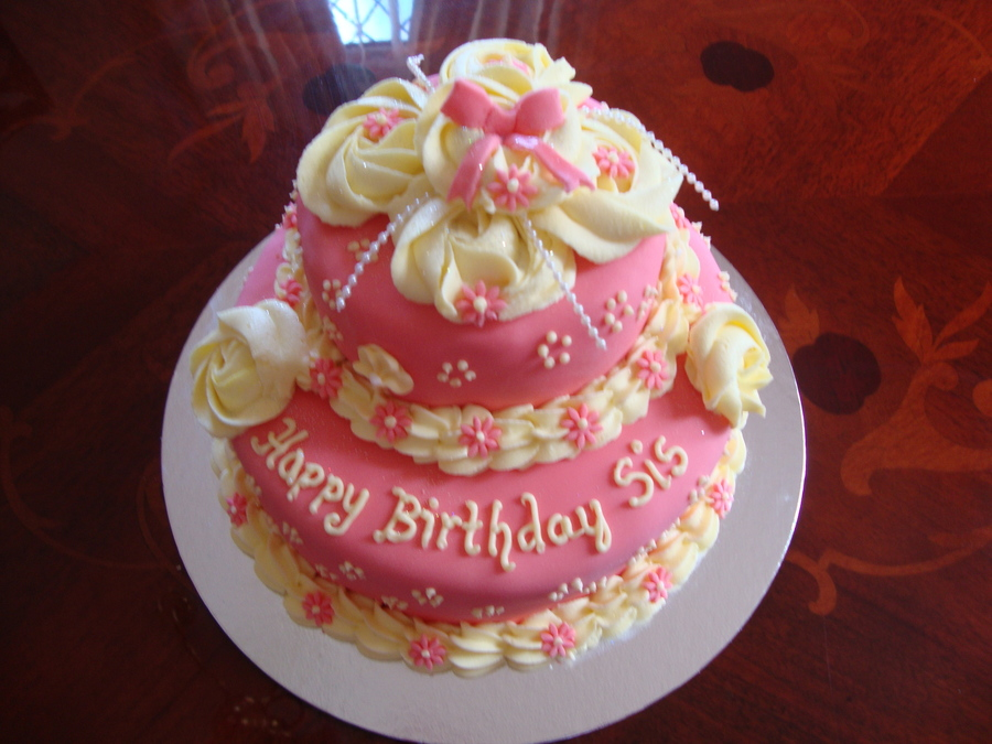 Images Of Birthday Cakes For Little Sister : Sisters Birthday Cake - CakeCentral.com