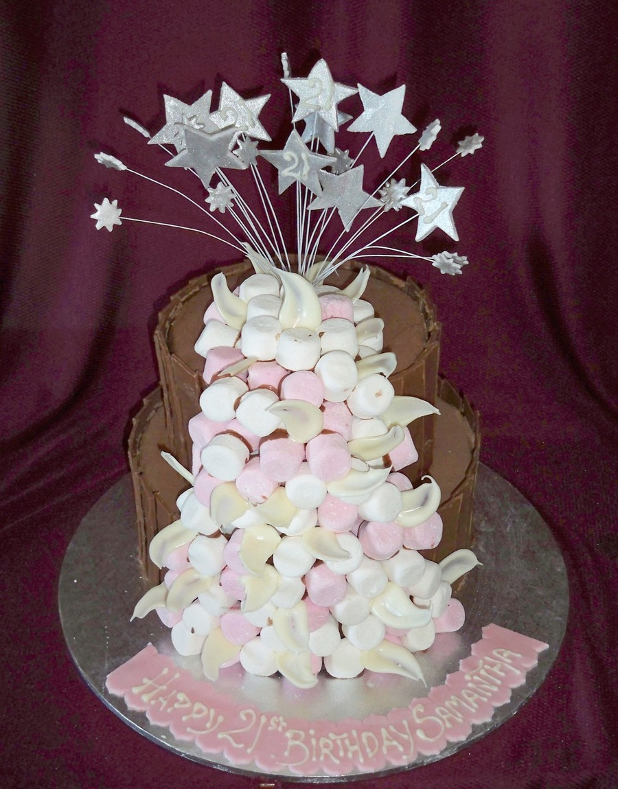 Marshmallow Birthday Cake on Cake Central