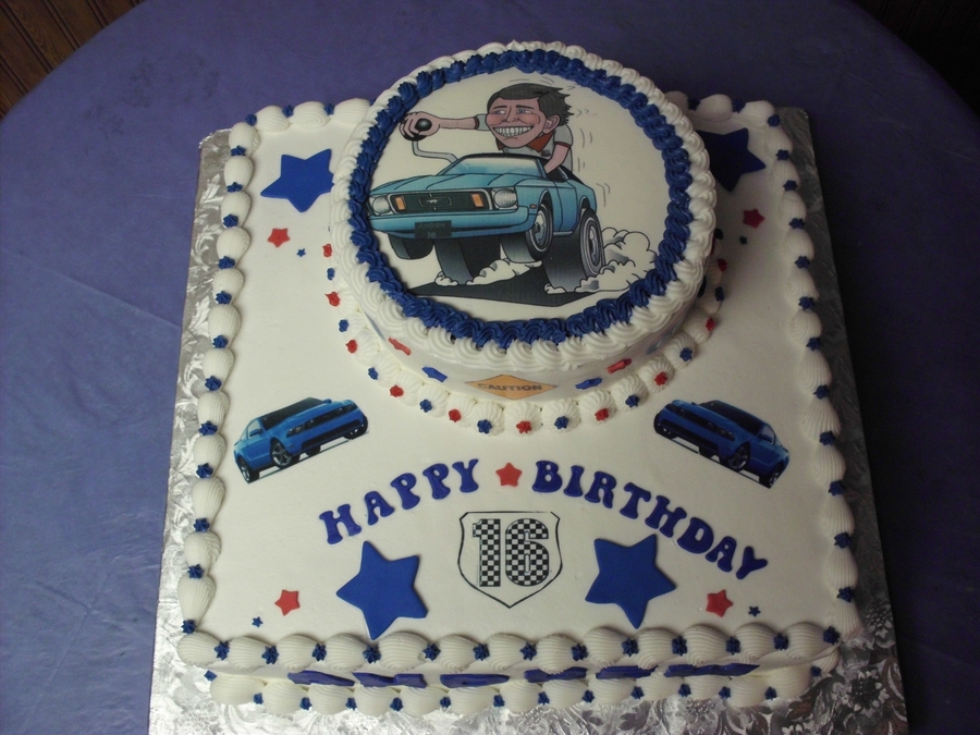 Ford Mustang Birthday Cake CakeCentralcom