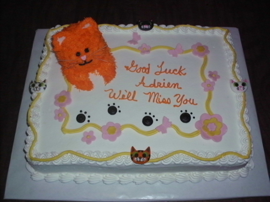 Kitty Cat Good-Bye Cake  on Cake Central