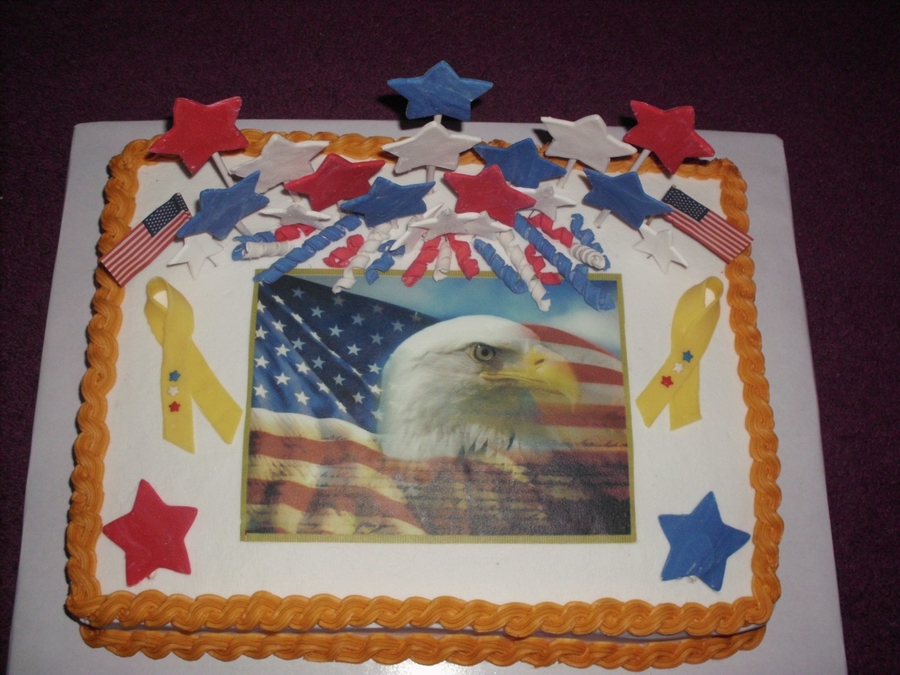 Memorial Day Cake on Cake Central